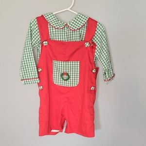 Smock it Like Hot Boys French Knot Christmas 2T
